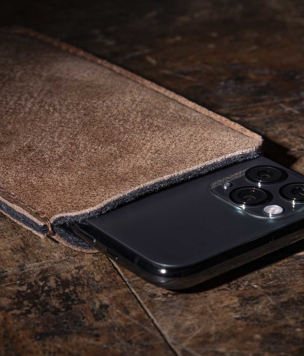 iPhone 11 Pro SE Xs Max XR 8 case leather sleeve felt lining DATENSCHUTZ