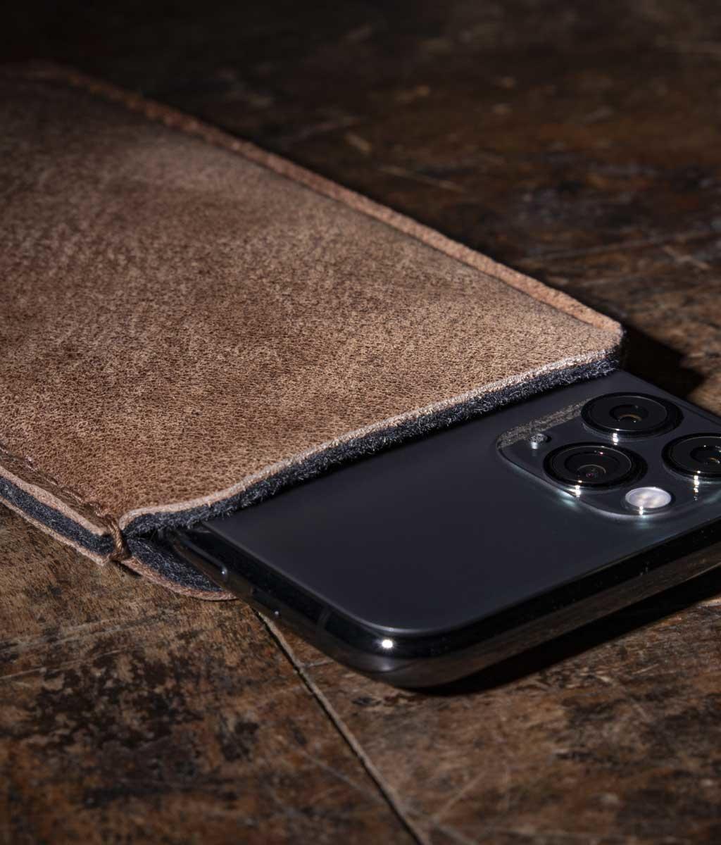 iPhone 12 11 Pro SE Max mini XR 8 Ledertasche, Lederhülle mit Filz Futter DATENSCHUTZ