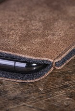 iPhone 13 12 11 Pro SE Max mini 8 case leather sleeve felt lining DATENSCHUTZ
