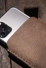 iPhone 11 Pro Xs Max XR 8 Ledertasche, Lederhülle mit Filz Futter DATENSCHUTZ