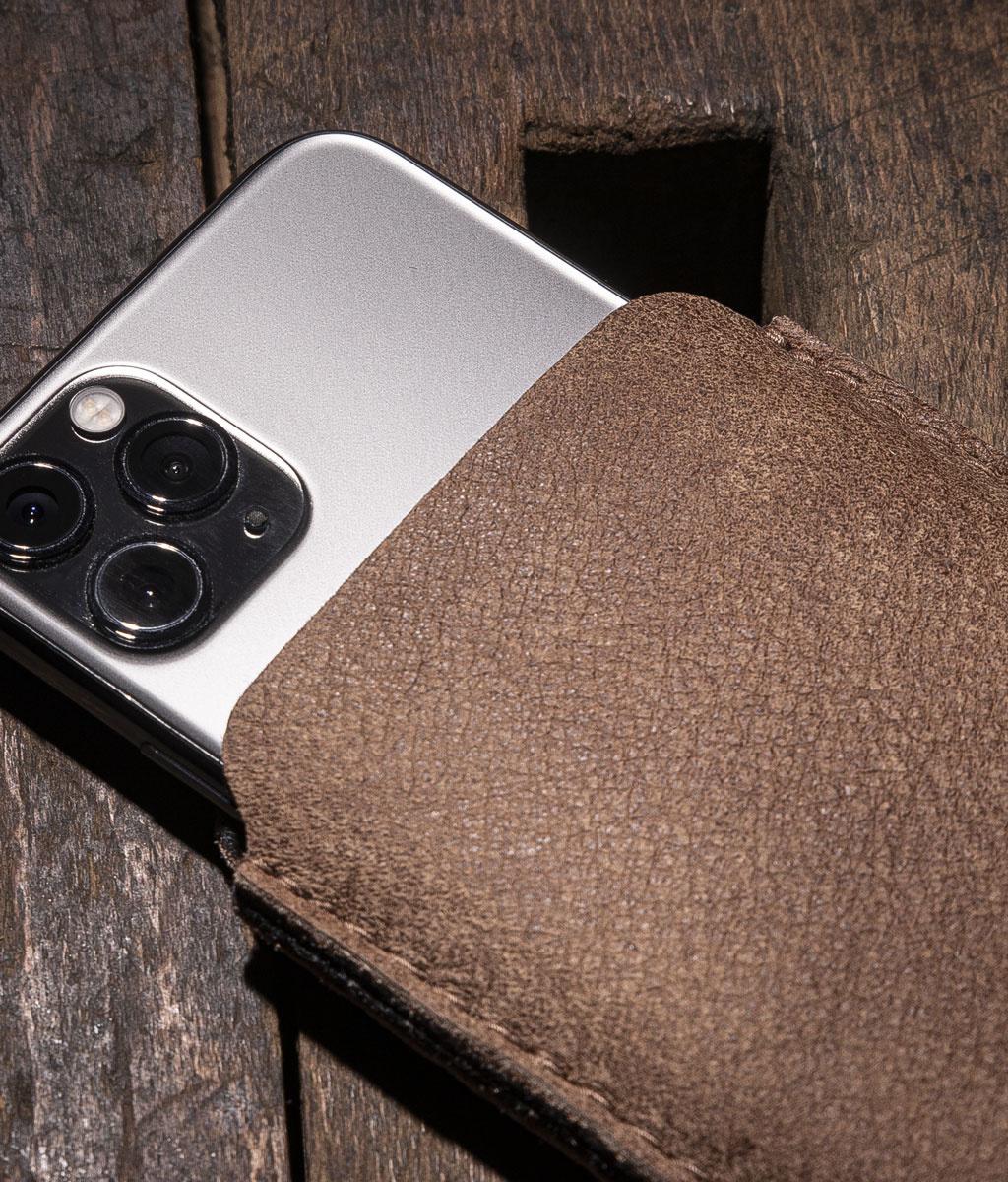 iPhone 13 12 11 Pro SE Max mini 8 Ledertasche, Lederhülle mit Filz Futter DATENSCHUTZ