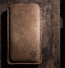 DATENSCHUTZ iPhone case leather sleeve felt