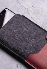 Galaxy S10, Plus, S10e, S9 Filz-Leder-Hülle, Filzhülle, SMARTWERK passend für Samsung Smartphones
