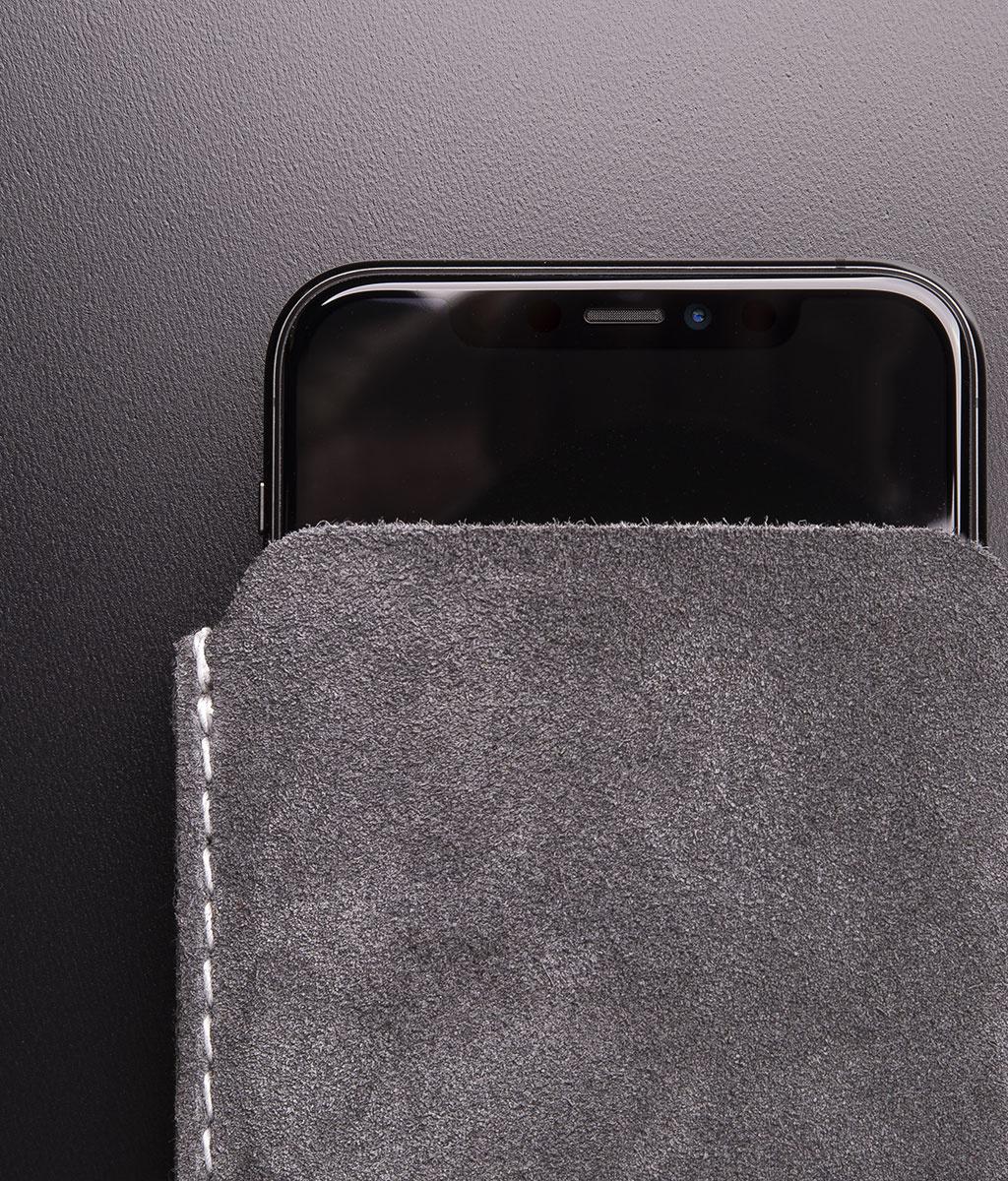 iPhone 12 11 Pro Max mini SE XR 8 Lederhülle aus Wildleder SCHUTZMASSNAHME