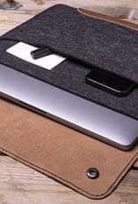 "MacBook Pro 13"" 16"" / Air 13"" Tasche Leder-Filz-Hülle, WERKZEUGTASCHE"