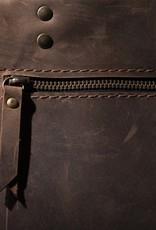 Leather handbag brown, leather bag MARY P.