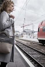 Umhängetasche Leder & Filz, Damen-Tasche GROSSRAUMBUERO