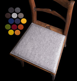 Trapeze seat/chair cushion upholstered, made to measure, 3mm felt 100% virgin wool, foam filling 20 mm