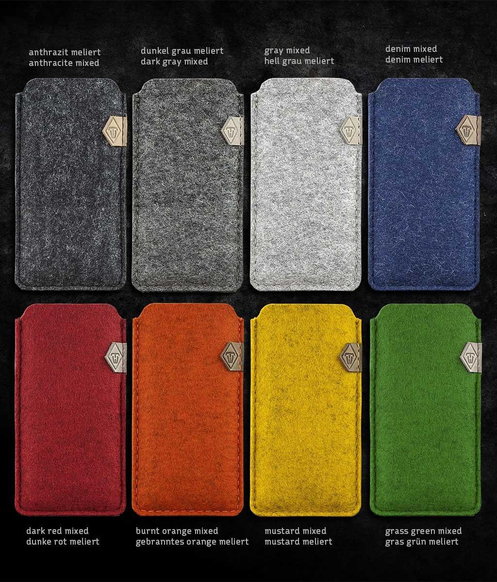 iPhone 13 12 11 Pro Max mini SE felt sleeve phone case SOFTWERK 2.0