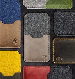 SMARTWERK für iPhone Filz Leder Tasche