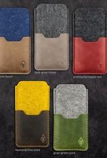 iPhone 11, Pro, Max, SE felt leather sleeve, case SMARTWERK