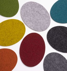 felt coasters oval 100% virgin wool 5mm thick