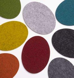felt coasters oval 100% virgin wool 5mm thick
