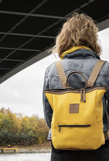 """Leder Rucksack für Damen """"HukkePakk"""", in mais-gelb"""