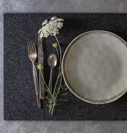 Filz Tischset rechteckig anthrazit meliert, 100% Schurwolle, 5 mm dick