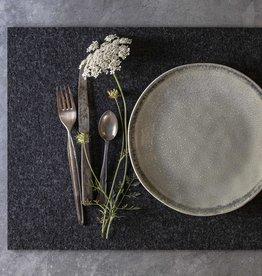 Filz Tischset rechteckig anthrazit meliert
