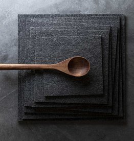Felt placemat square dark gray mixed, 100% virgin wool, 5mm thick