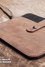 iPad Pro 11, 12.9, iPad Air 10.9 10.2 leather felt case, sleeve FACHWERK suitable for Apple tablets