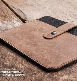 FACHWERK für iPad Pro / Air Leder-Filz-Hülle (100% Schurwolle)