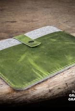iPad Pro 11, 12.9, iPad Air 10.9 10.2 Leder-Filz-Hülle, Tasche FACHWERK passend für Apple Tablets