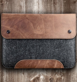 WERKZEUGTASCHE leather case, sleeve with felt for Microsoft Surface Devices