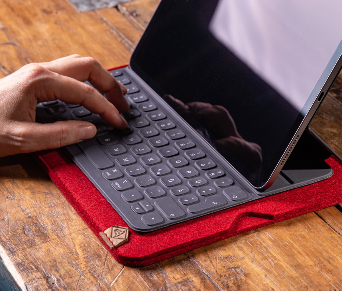 iPad Pro 11 12.9 Air 10.9 10.2 Hülle Filz Filzhülle Filztasche SOFTWERK
