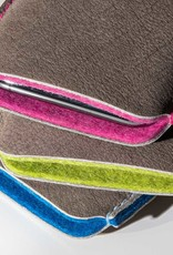 iPhone 12 11 Pro Max mini SE XR leather case with colorful felt lining SCHUTZPATRON