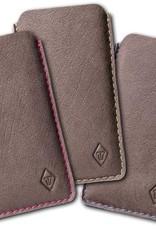 iPhone 12 11 Pro Max mini SE XR Leder Hülle mit farbenfrohem Innenfutter aus Filz SCHUTZPATRON