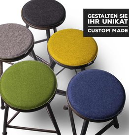 felt seat cushions round padded custom made