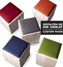 Felt seat cushions square padded custom made