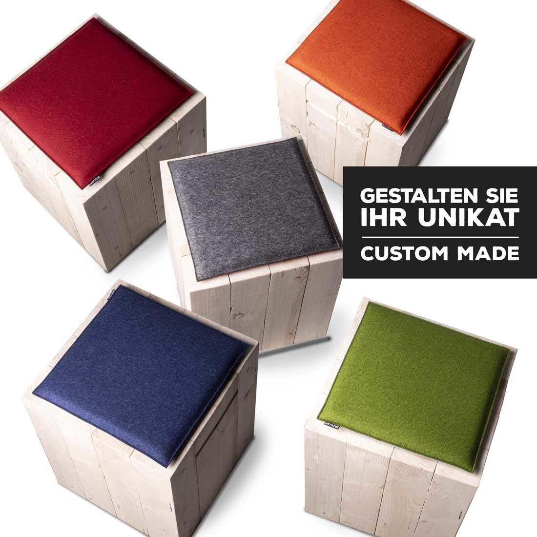 felt seat cushions square