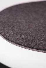 Felt seat pad suitable for Eames Chair, Armchair bicolor gray