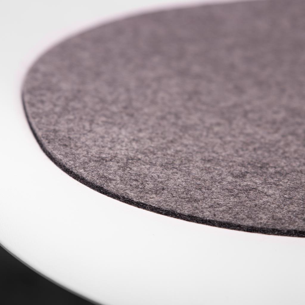Filz Sitzauflage Eames Chair DSW DSR Armchair, bicolor grau, Filzauflage, Wollfilz 5 mm passend gefertigt für den Klassiker von Vitra