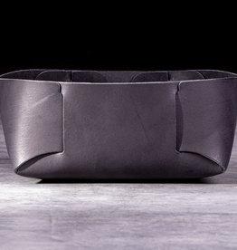 STECKWERK LEATHER basket, basketlet black