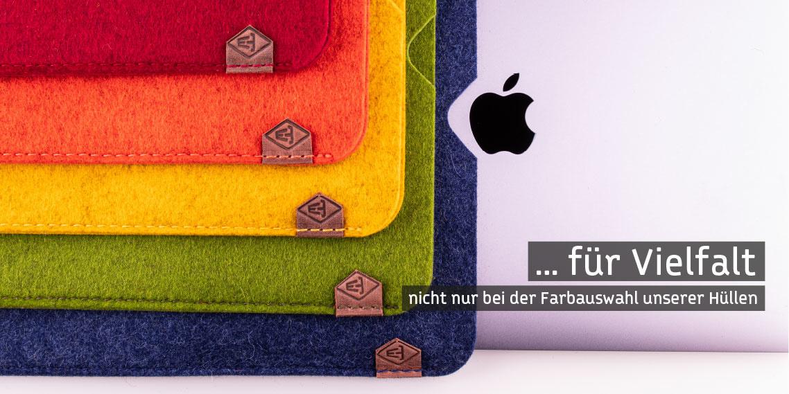 Farbliche Vielfalt bei MacBook Filzhüllen