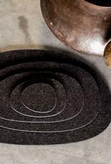 Filz Untersetzer, Tischset oder Mitteldecke anthrazit meliert – KIESEL