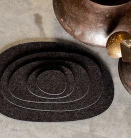 KIESEL anthracite felt coasters / placemat / table cover / trivet