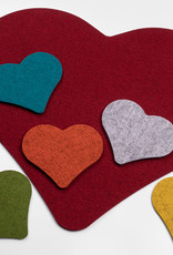 heart coaster or placemat from felt
