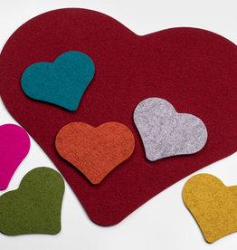 felt heart – 100% virgin wool – 5 mm thick