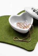 Herz Untersetzer oder Tischset aus Filz