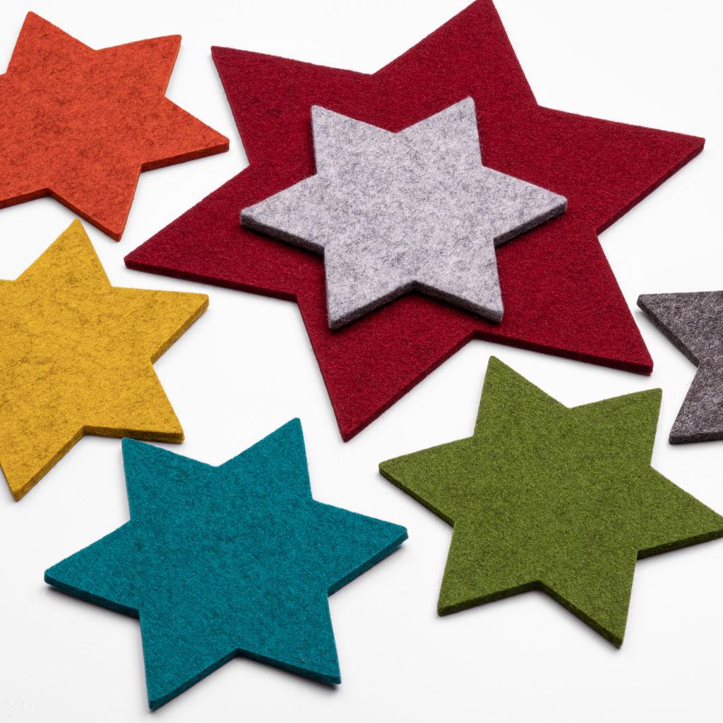 star coasters from felt