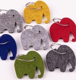 Felt keychain elephant, 5 mm felt, 100% virgin wool