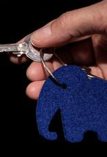 Filz Schlüsselanhänger Elefant in blau, grau, rot, gelb oder grün