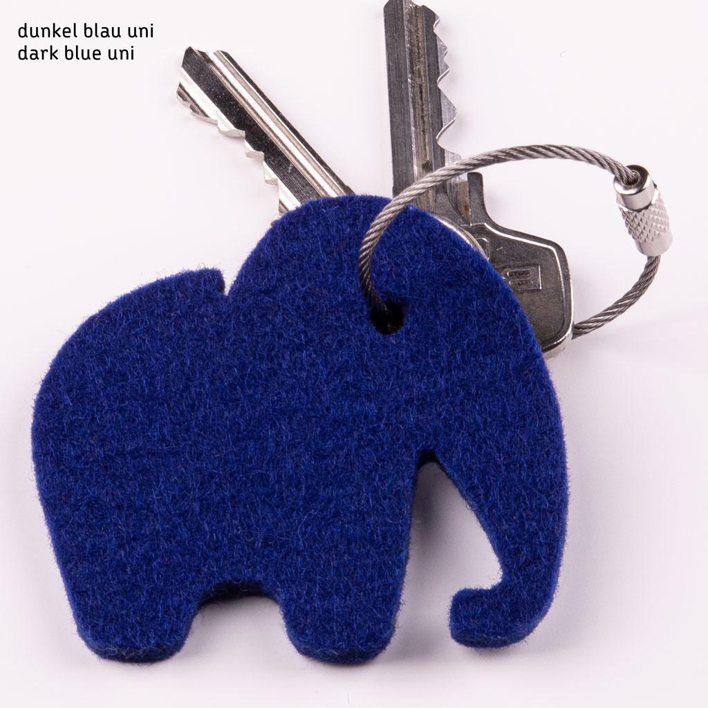 Filz Schlüsselanhänger Elefant