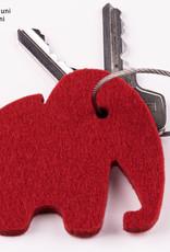 felt keychain elephant