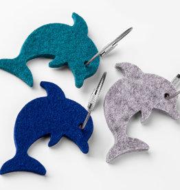 Delfin Filz Schlüsselanhänger, 5 mm Filz aus 100% Schurwolle