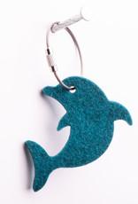 Filz Schlüsselanhänger Delfin