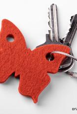 felt keychain butterfly – gift tag