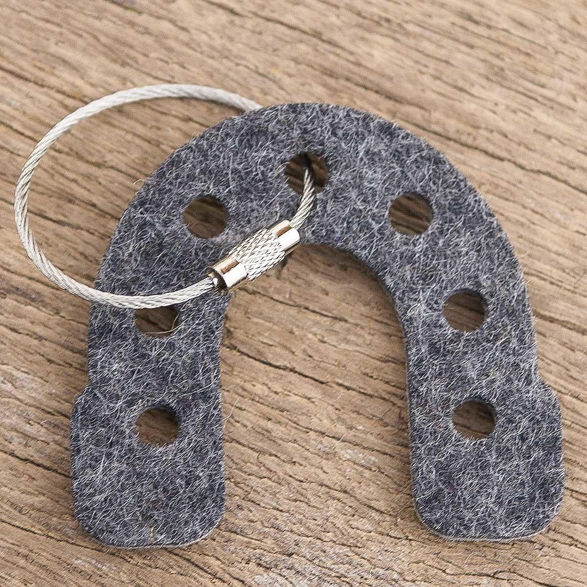 felt keychain horseshoe as a lucky charm