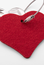 felt keychain heart in red, gray, nature or pink (magenta)